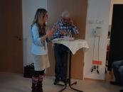 Mikrofontest mit Corinne Rasky vom Netzwerk an Urft und Olef.