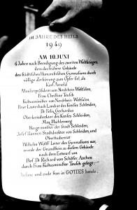 Grundsteinurkunde 1949
